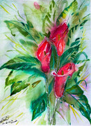 Gladiolas, 14 x 11 inches