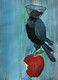 Adam Apple and Nietzsche's crow, 15.75 x 11.75 inches