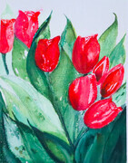 Tulips from my Garden, 15 x 11 inches